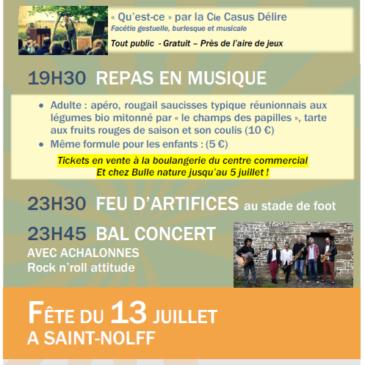 Fête du 13 juillet 2019 à Saint-Nolff