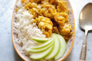 porc à la crème de curry et coco